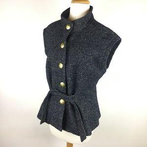 Cabi Vest Wool BlendStyle #116 Black Tweed Golden